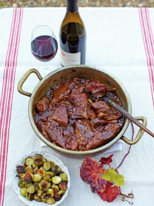 Maple-glazed pork spare ribs