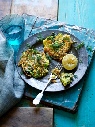 Green veggie fritters vegetable recipes jamie oliver for Canape ideas jamie oliver