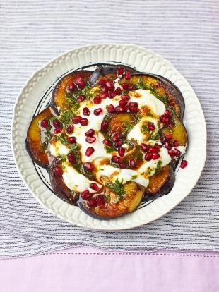 Aubergine & pomegranate salad