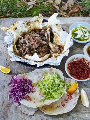 Spiced Lamb Flatbreads Lamb Recipes Jamie Oliver