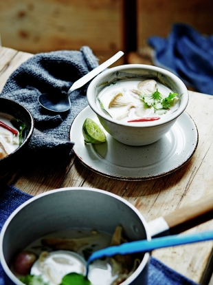 Turkey & coconut milk soup