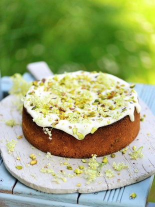 Pistachio And Elderflower Cake