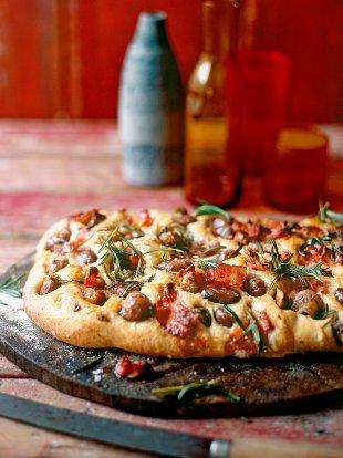 Chestnut, rosemary & pancetta focaccia