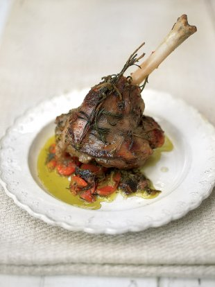 Incredible baked lamb shanks