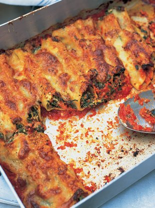 Awesome spinach and ricotta cannelloni