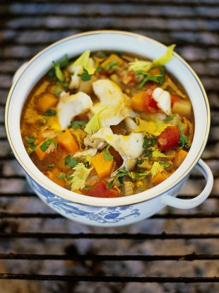 Salt cod soup zuppa di baccala for Canape recipes jamie oliver