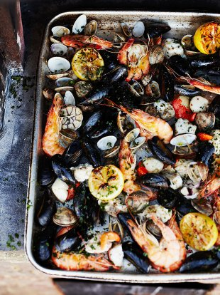 Wood-fired shellfish
