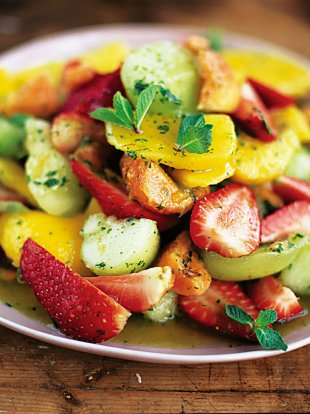 Mint caipirinha fruit salad