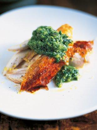Roast chicken and pesto
