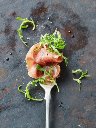 Prosciutto rocket forks for Canape ideas jamie oliver