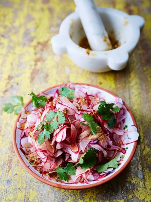 Radish and coriander pickle