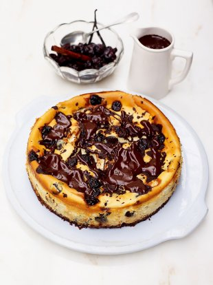 The best cherry and chocolate cheesecake