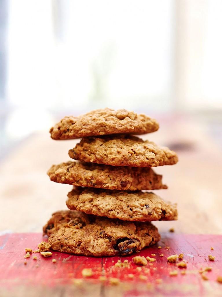 Gluten-free oat & raisin cookies