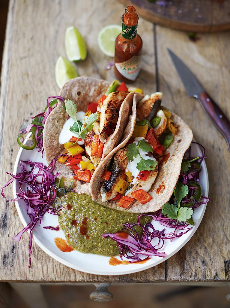 Tasty fish tacos fish recipes jamie oliver for Tasty fish recipes