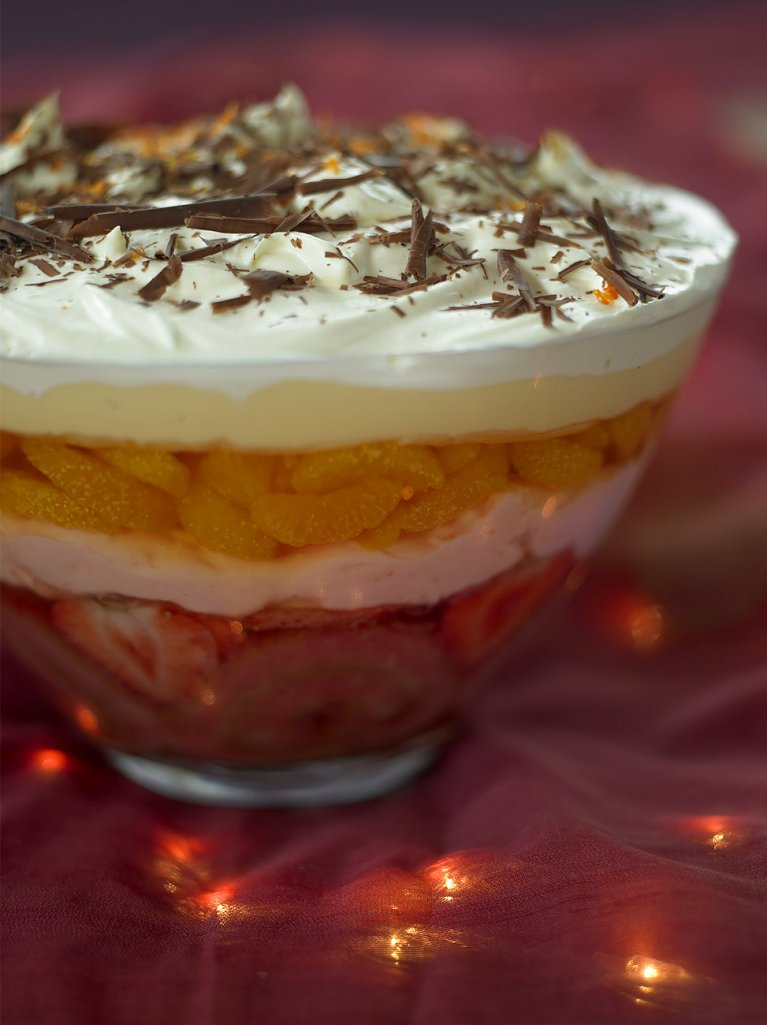 Mrs. Oliver's massive retro trifle