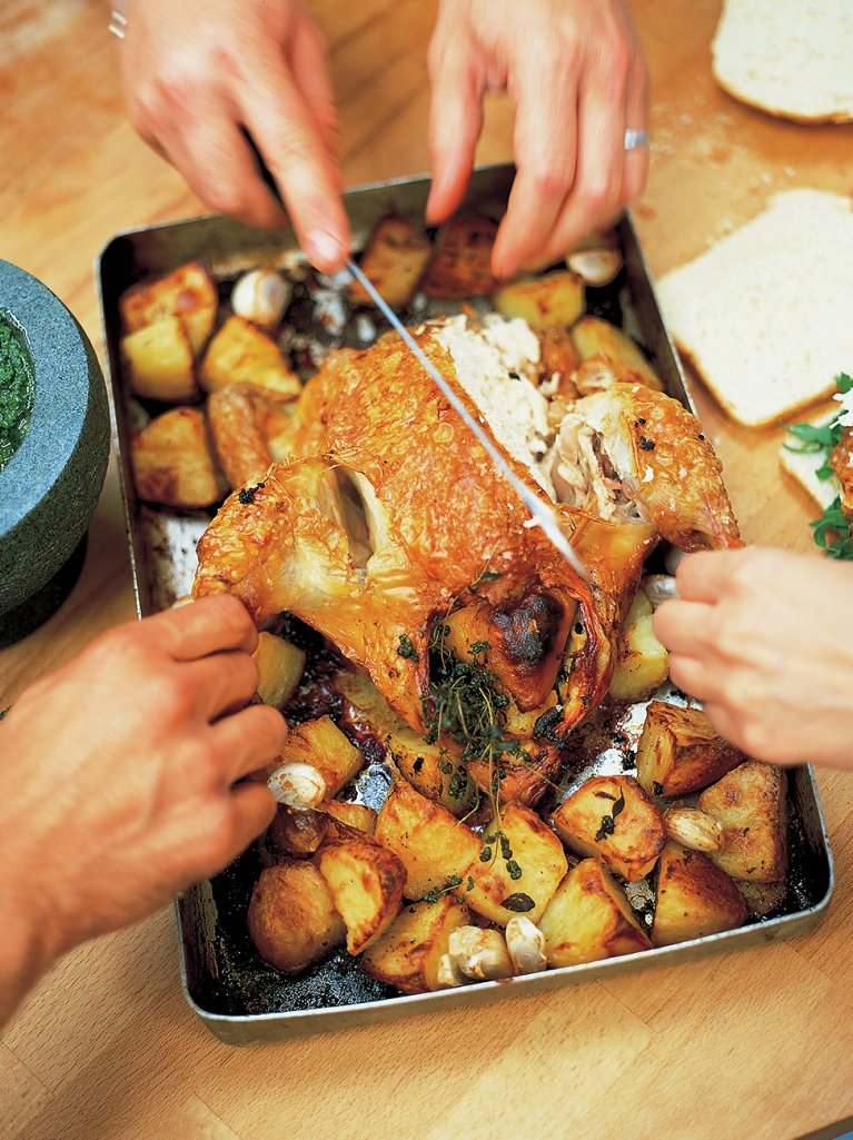 Lemon Roast Chicken | Chicken Recipes | Jamie Oliver Recipes