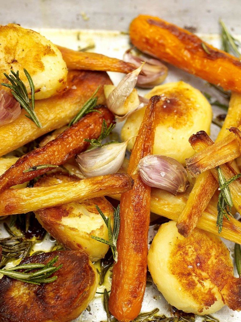 Roasted Potatoes And Carrots With Citrus Recipe — Dishmaps