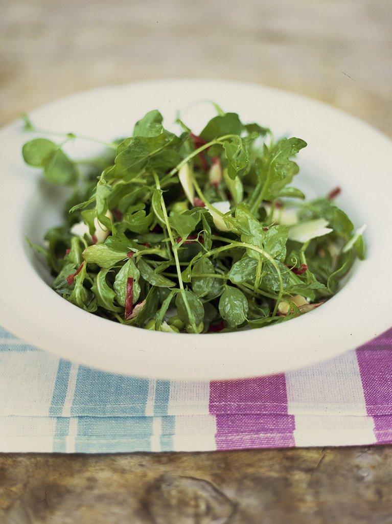 Sweet pea and pecorino salad