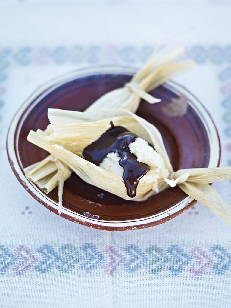 Sweet tamales 'n' chocolate