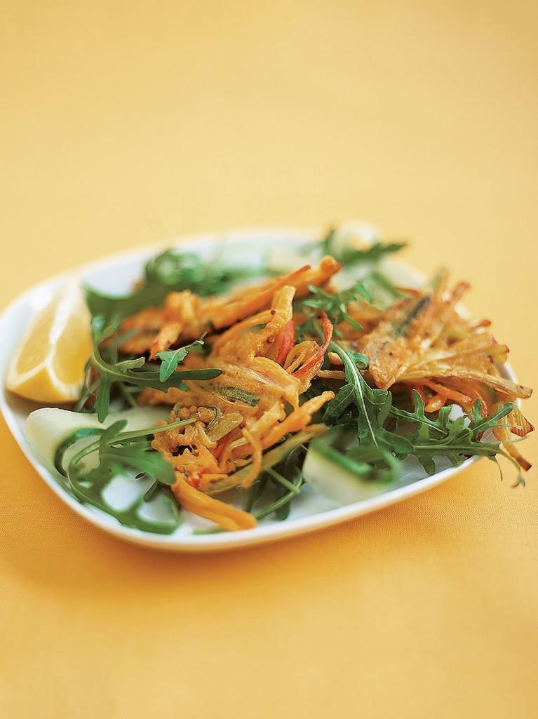 Vegetable bhaji salad