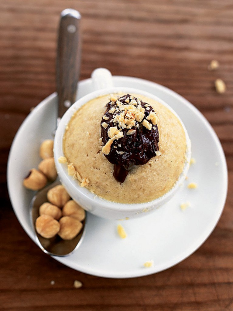 Individual hazelnut and chocolate clafoutis