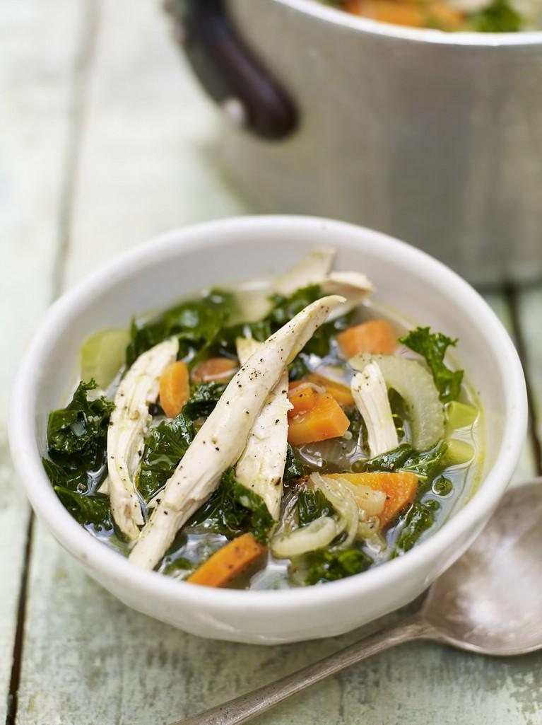 Chicken garden soup