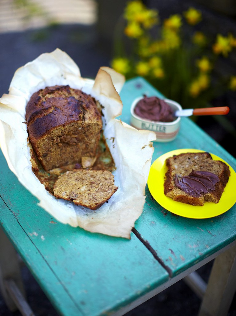 Walnut and banana loaf