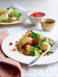 Mozzarella & winter fruit salad