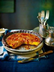 Chocolate pumpkin brûlée pie