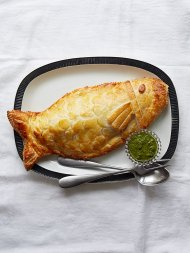 Sea bass in puff pastry