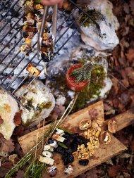 Gorgeous rosemary prune skewers