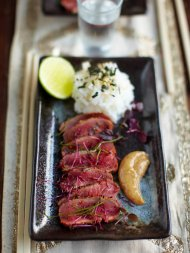 Posh Japanese-inspired beef carpaccio