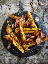 Spicy roasted squash