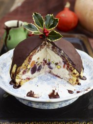 Winter pudding bombe