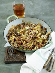 Italian style baked cheesy mushrooms