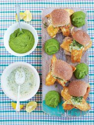 The best fish baps with mushy peas & tartare sauce