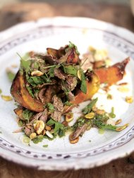 Asian squash salad with crispy duck