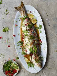 Asian-steamed sea bass