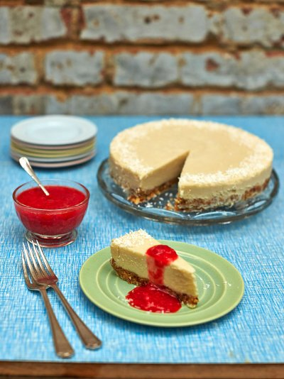 Dairy-free coconut cheesecake
