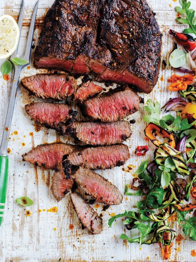 Sweet pepper butterflied beef rump
