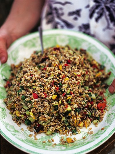 Farro salad with roasted veg (Insalata di farro con verdure al forno)