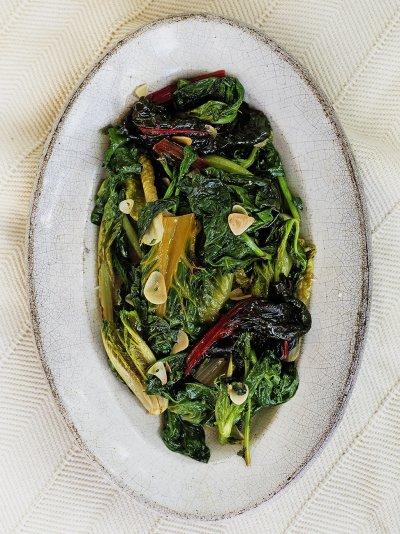 Italian style greens (Ricetta tipica per verdure verdi)