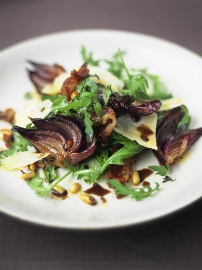 Scrummy warm rocket salad