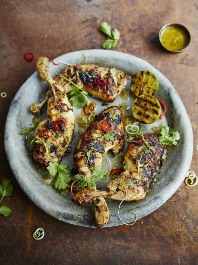 Barbecued thai chicken legs