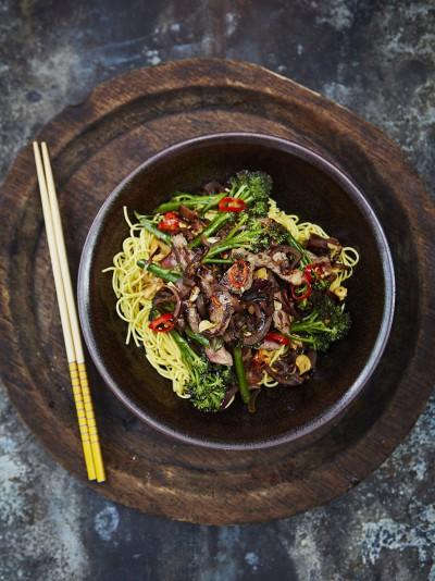 Beef and broccoli stir-fry