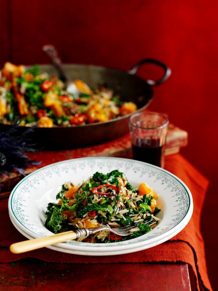 Fried Rice with Kale, Squash & Chestnuts | Rice Recipes | Jamie Oliver