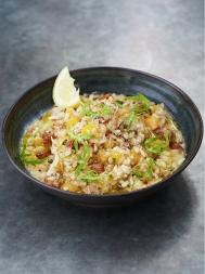 Butternut squash & sausage risotto