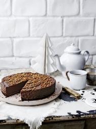 Chocolate truffle chestnut torte
