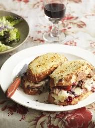 Festive turkey croque-monsieur