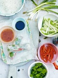 Vietnamese-ish spring rolls